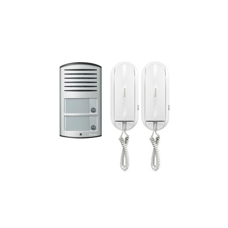 BTICINO Kit audio bifamiliare composto da citofoni SPRINT L2 e pulsantiera LINEA 2000 Cod. 366821