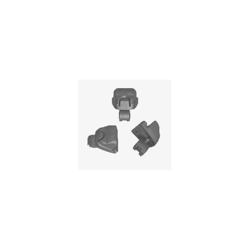 Accessorio Ricambio Aspiracenere 2Click set 3 ruote pivottanti