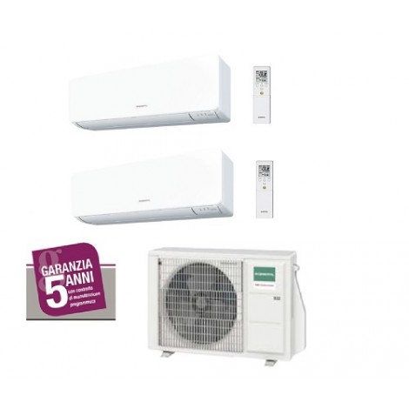 Climatizzatore Fujitsu General Dual Split R32 7000 + 9000 btu AOHG14KBTA2 + ASHG07KMCC + ASHG09KMCC