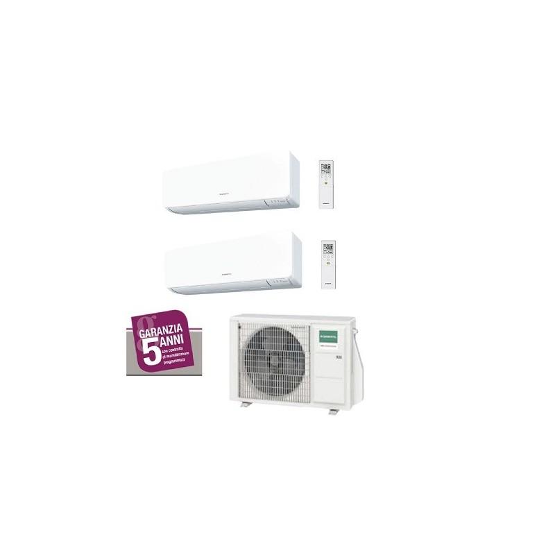 Climatizzatore Fujitsu General Dual Split R32 7000 + 9000 btu AOHG14KBTA2 + ASHG07KMTB