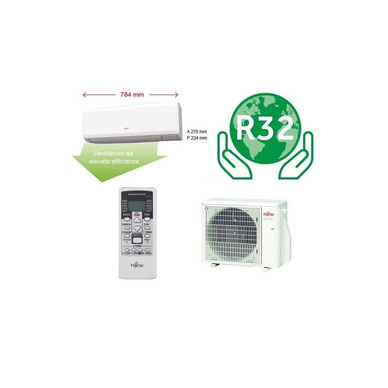 Condizionatore Climatizzatore R32 Fujitsu ASYG09KPCA Mono SPlit Inverter