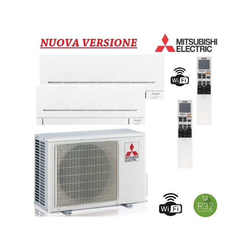 Condizionatore Climatizzatore Mitsubishi Dual Split 9+9 - mxz-2f42vf + 2x MSZ-AP25VGK WIFI