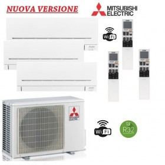Climatizzatore Mitsubishi Trial Split 9+9+12 - MXZ-3F54VF + 2x MSZ-AP25VGK + MSZ-AP35VGK NEW WIFI INTEGRATO A+++