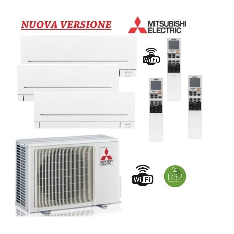 Climatizzatore Mitsubishi trial Split 9+9+12 - MXZ-3F54VF + 2x MSZ-AP25VGK + MSZ-AP35VGK