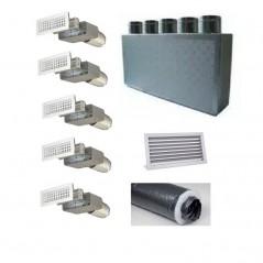 Kit per Distribuzione dell'aria 5 vie 5 uscite per climatizzatori condizionatori canalizzati canalizzabili COMPLETO - 200 mm