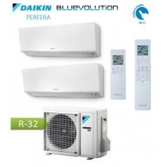 Ultima Versione Climatizzatore Condizionatore Dual Split DAIKIN R32 - Perfera 9+12 - 2MXM40N + FTXM25R + FTXM35R 9000+12000