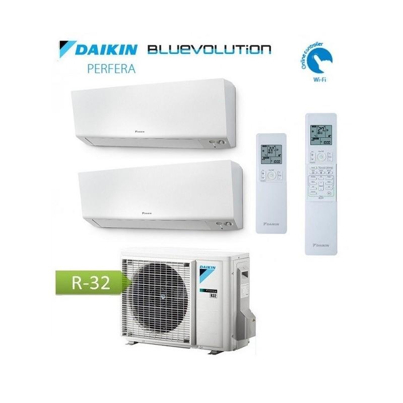 Climatizzatore Condizionatore Dual Split DAIKIN R32 - Perfera 9+12 - 2MXM40N