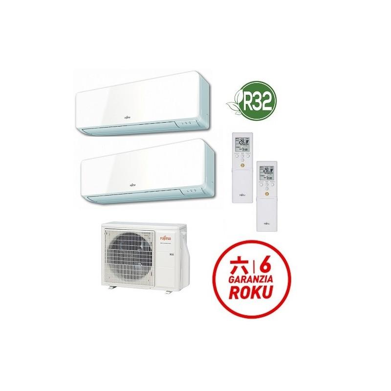 Climatizzatore R32 Fujitsu Dual Split 9000 + 9000 AOYG14KBTA2 + 2x ASYG09KMCC