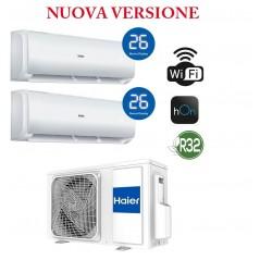 Condizionatore WIFI HAIER GEOS PLUS Dual Split 9+9 - 2U40MEFFRA + 2x AS25TEDHRA(M1)