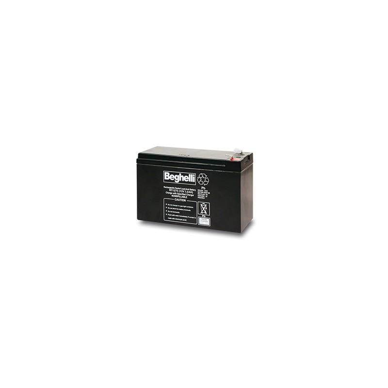 Batteria tampone per centrali PB 12V 7AH T1 Beghelli Cod. 8805