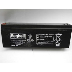 Batteria tampone per sirena 12v 2.1 beghelli Cod. 8665