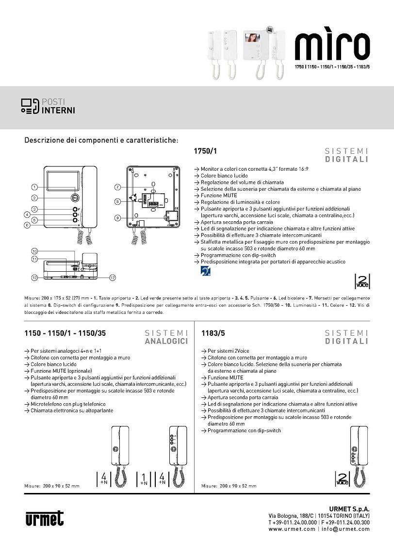 Schema Elettrico Urmet : Schema elettrico urmet voice aggiungere n posto est